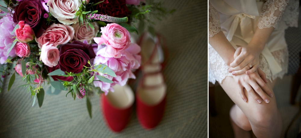 wedding_preparations_bouquet_and_red_shoes