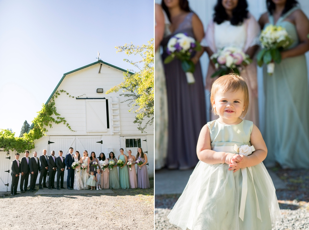 bridal-party-and-flower-girl