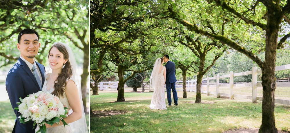 bride-and-groom-walk-in-orchard