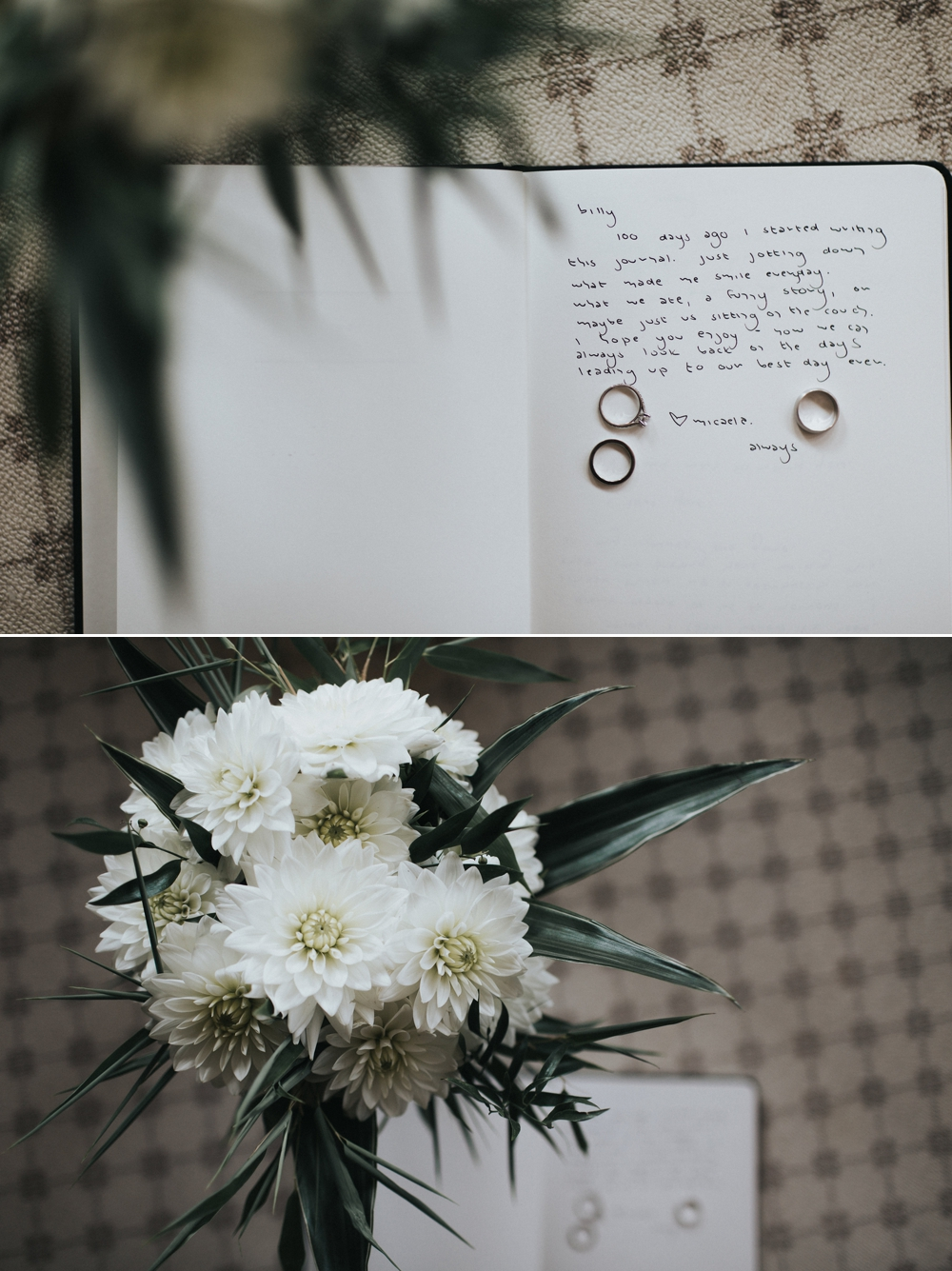 wedding-journal-rings-and-bouquet