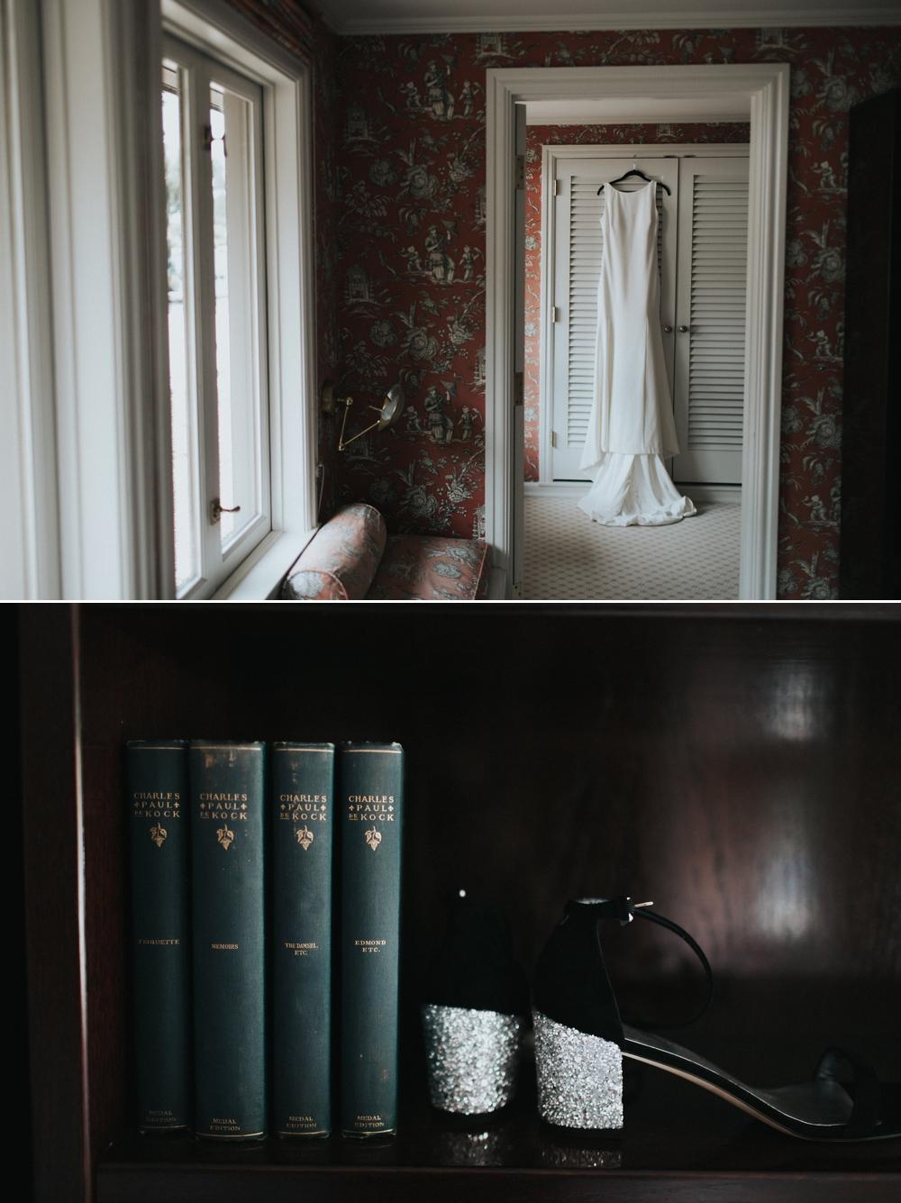 wedding-dress-hanging-on-boudoir-door