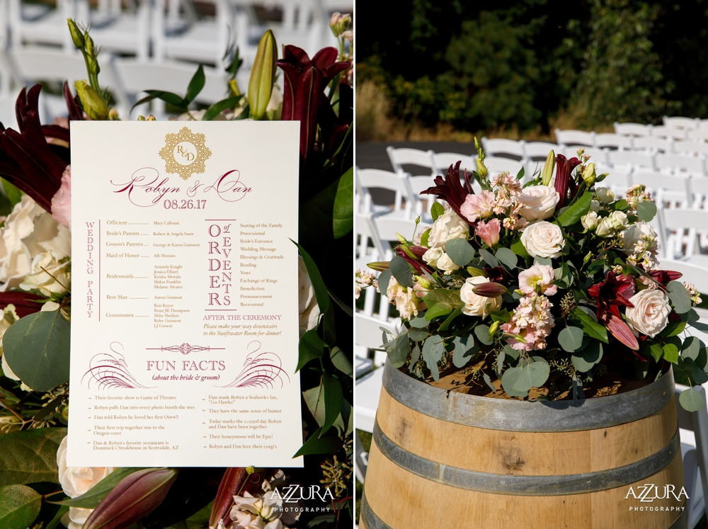 wedding-program-in-pink-roses