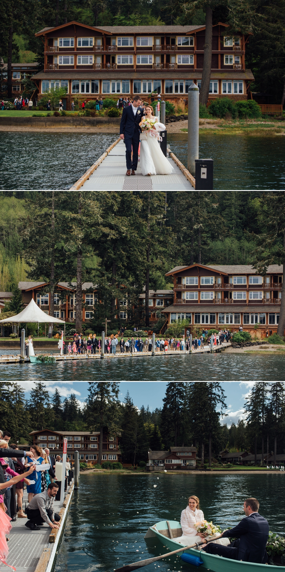 bride-and-groom-walk-down-dock-to-boat