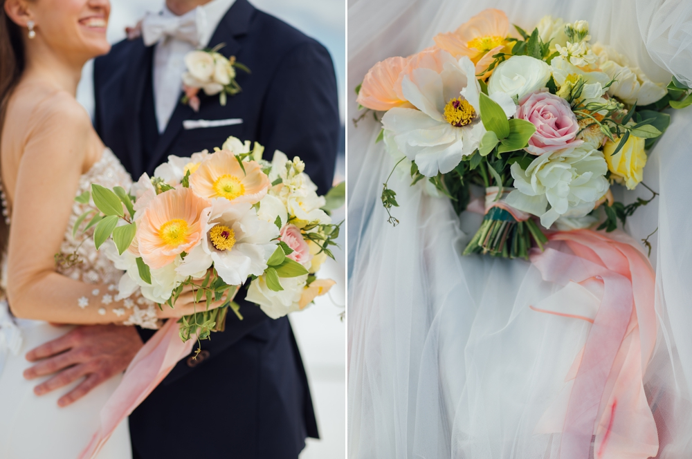 bride-holidng-yellow-flowers