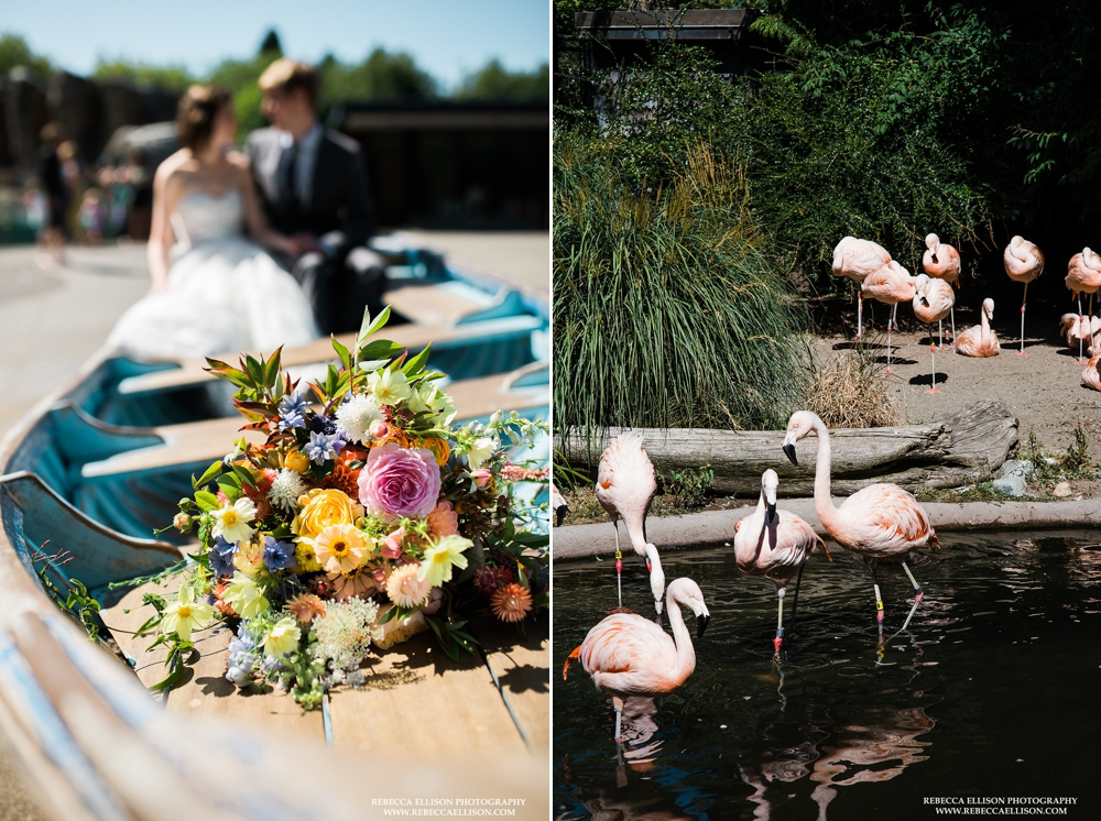 bouquet-and-flamingos