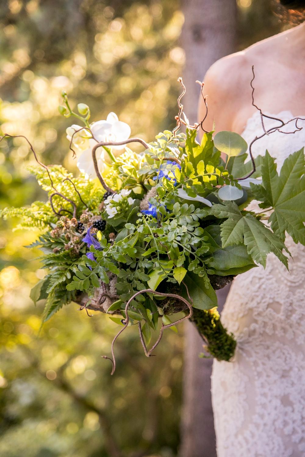 white-green-purple-woodland-bridal-bouquet