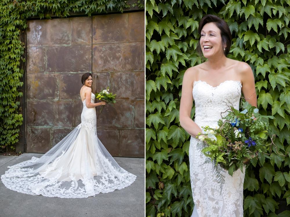 bride-in-front-of-copper-door-at-JM-cellars