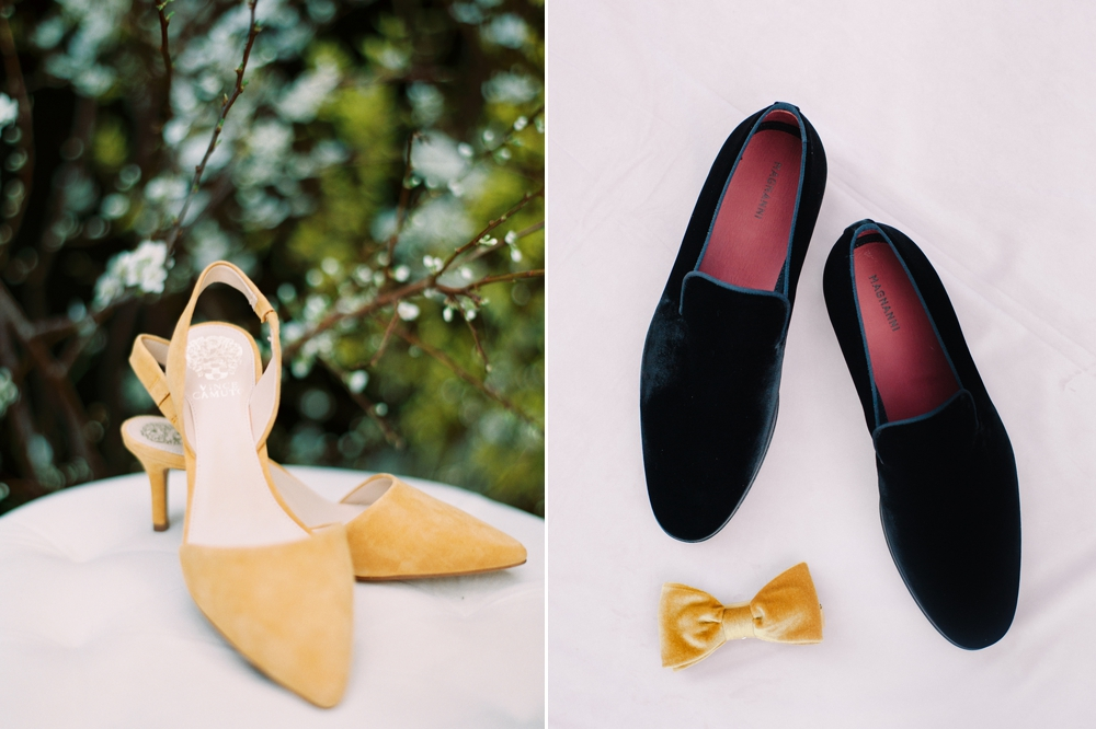 yellow-pointed-toe-bridal-shoes-black-loafers