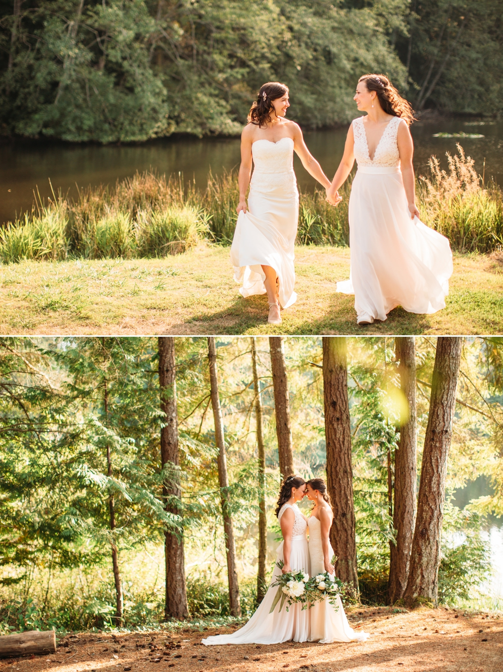 brides-hold-hands-and-kiss