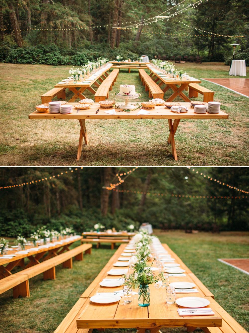 long-picnic-tables-wedding-reception-setup
