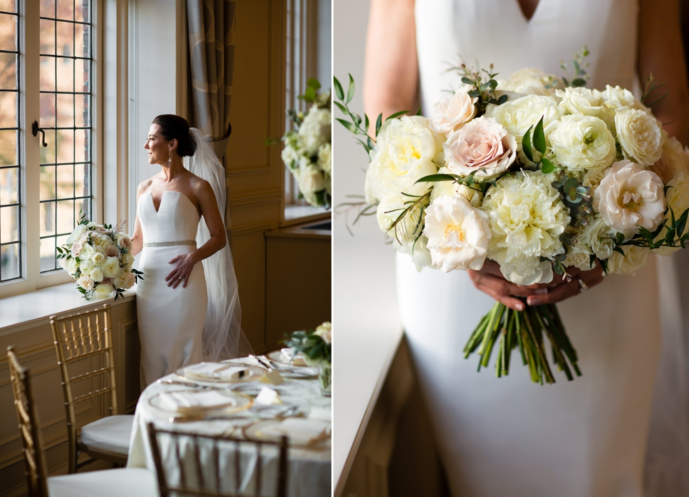 bride-looking-out-window-with-bouquet