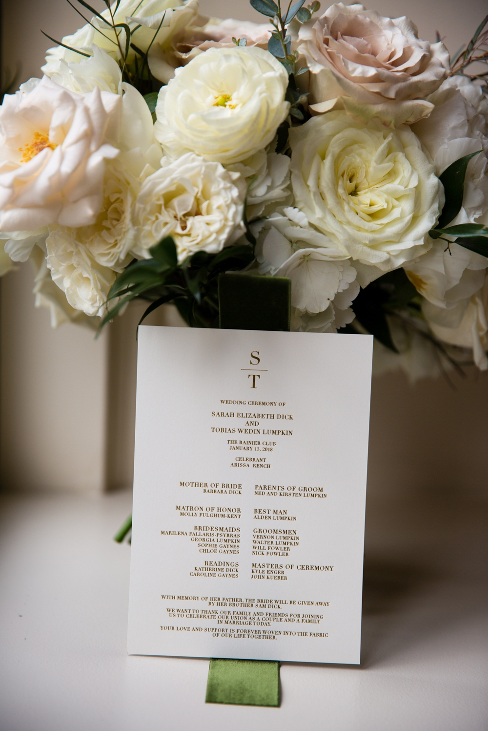 wedding-program-and-bouquet