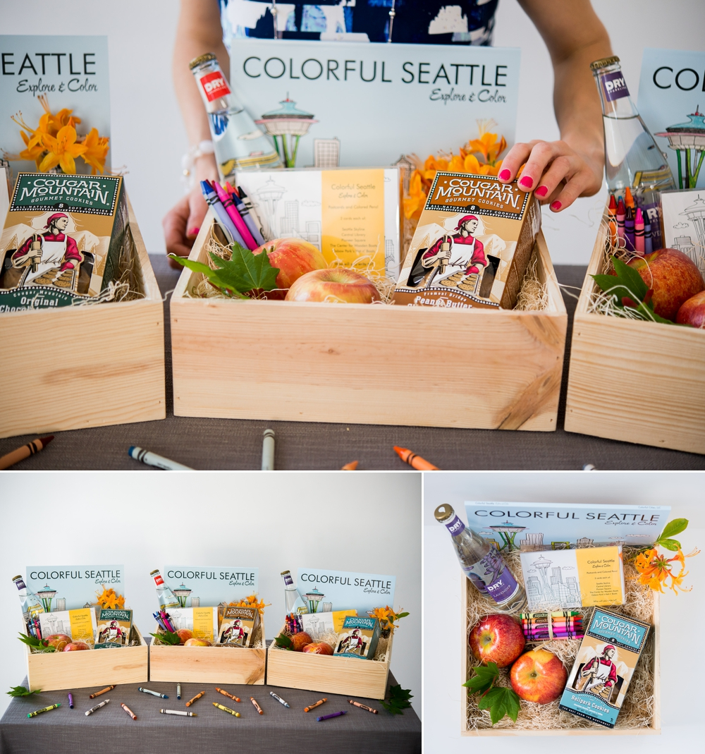 Cougar Mountain Gourmet Cookies, Dry Sparkling, Crayola, Colorful Seattle