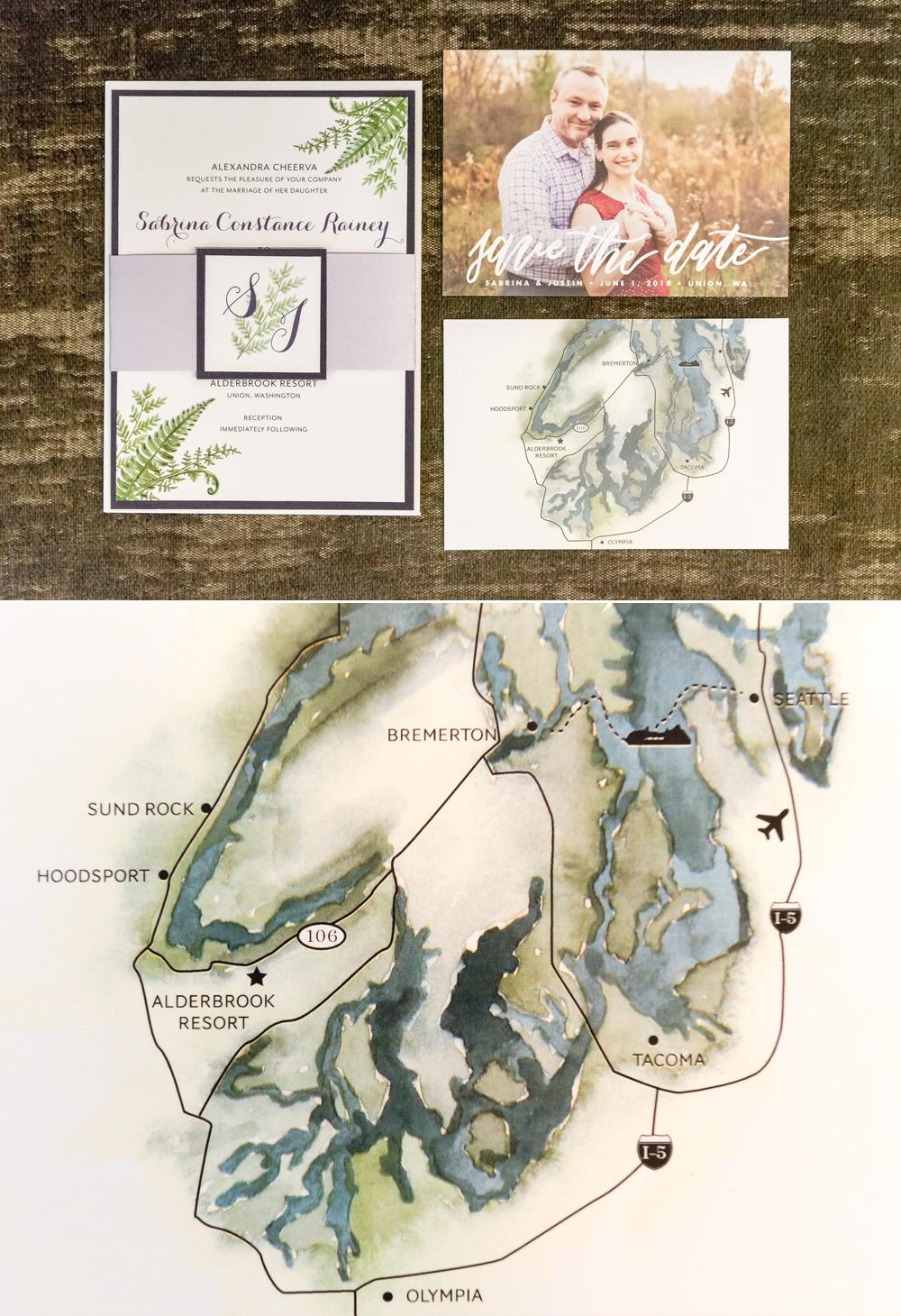 wedding-invitation-and-map-of-alderbrook