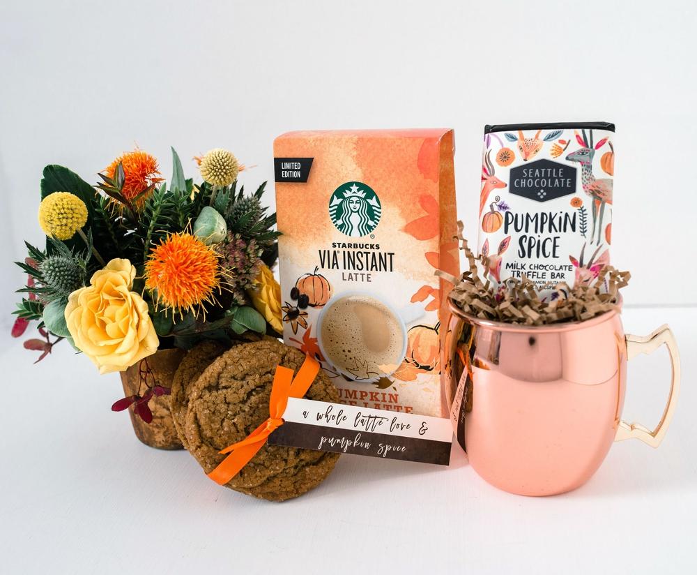 Starbucks Via Instant Latte, Seattle Chocolate Pumpkin Spice Milk Chocolate Truffle Bar.